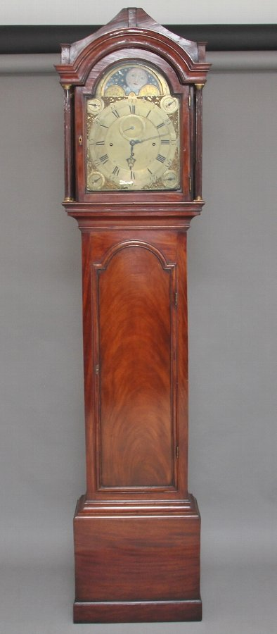 18th Century mahogany longcase clock by John Wood of Grantham