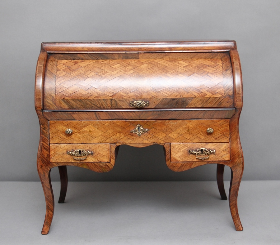 19th Century parquetry miniature desk