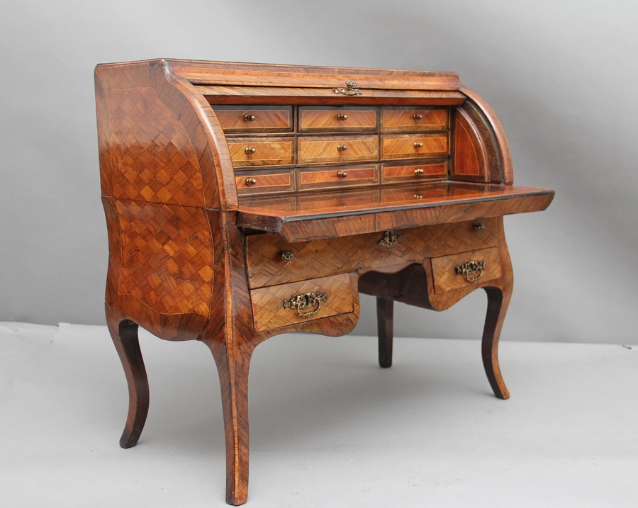 Antique 19th Century parquetry miniature desk