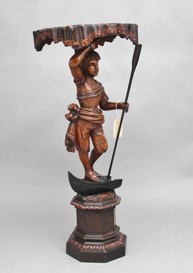 Early 19th Century Venetian figure stand