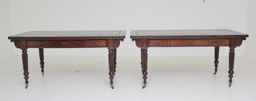 Pair of early 19th Century mahogany library tables