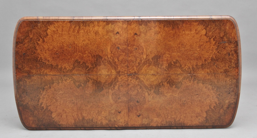 Antique 19th Century burr walnut centre table