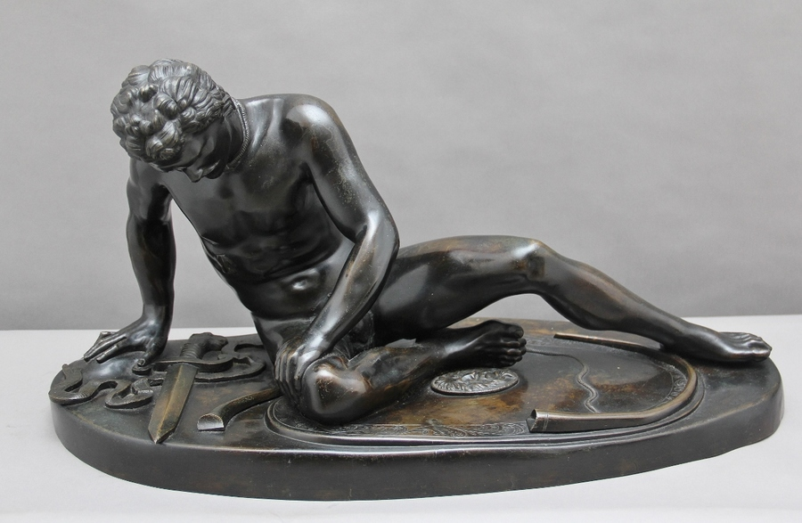 "19th Century bronze figure of ""The Dying Gaul"""