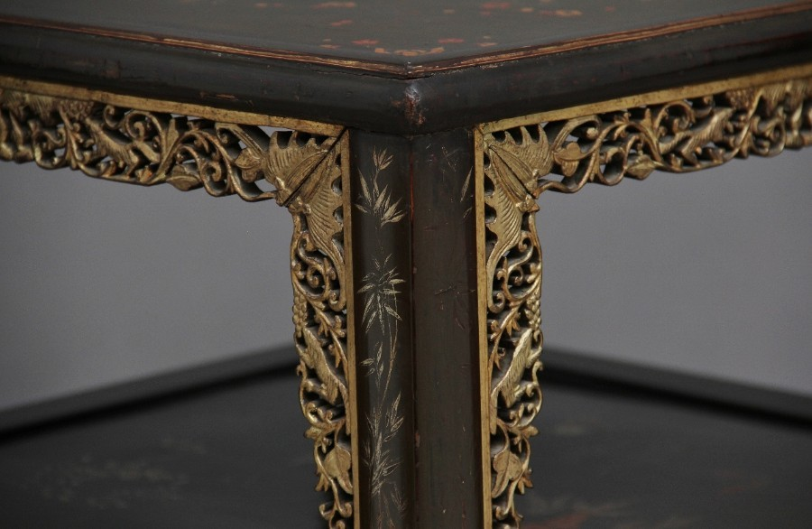Antique 19th Century Chinese two tier occasional table