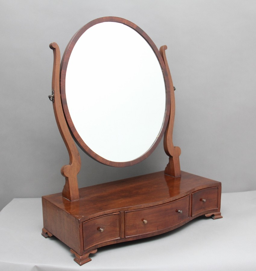 19th Century mahogany dressing mirror