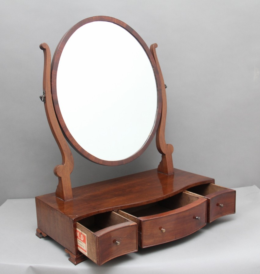 Antique 19th Century mahogany dressing mirror