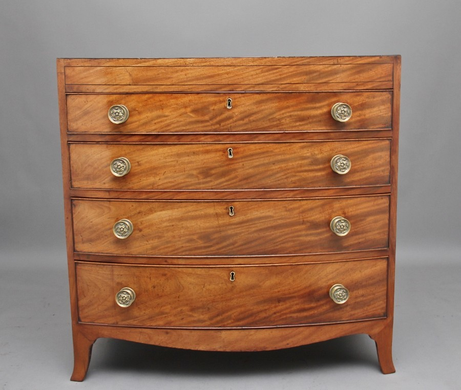Early 19th Century mahogany bowfront chest