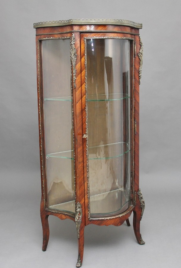 19th Century Kingwood display cabinet