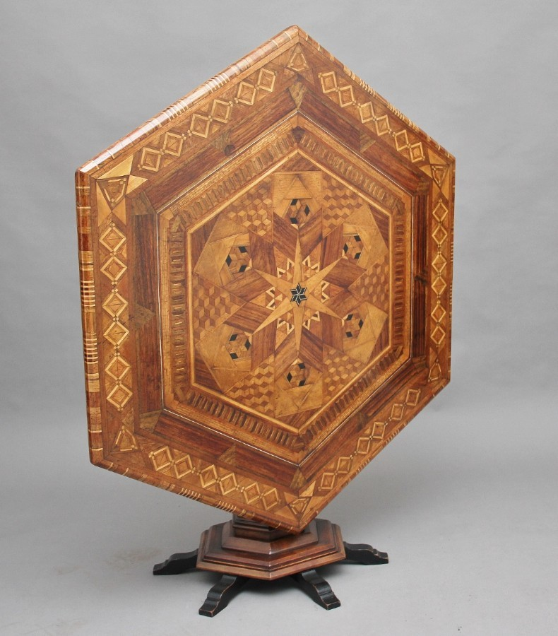 19th Century Italian parquetry centre table