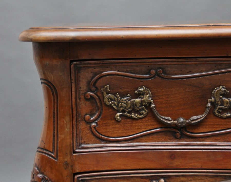 Antique Early 20th Century fruitwood commode