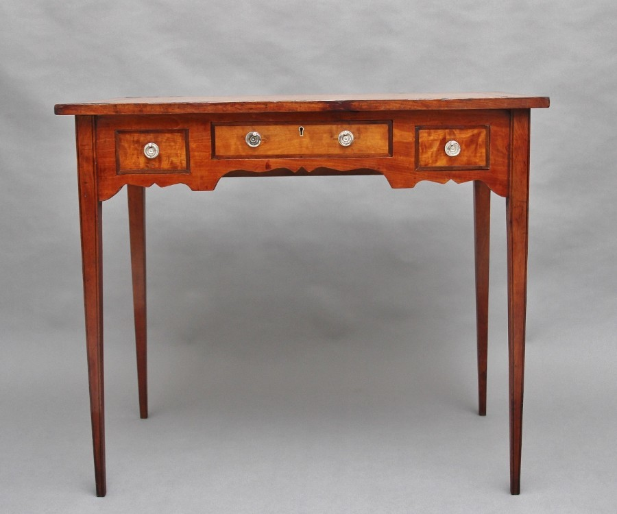19th Century satin birch side table