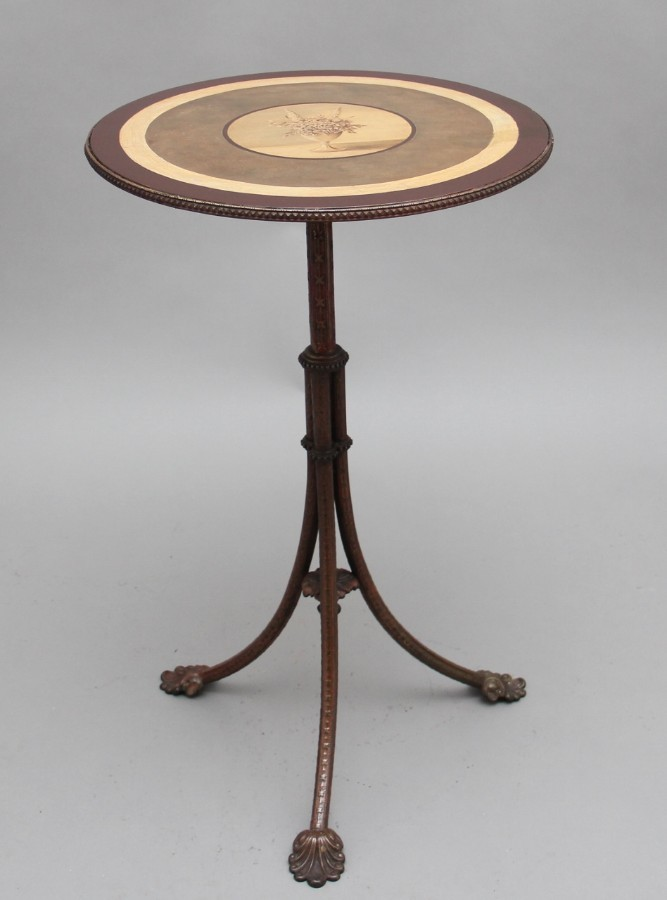 19th Century painted and brass occasional table