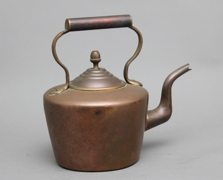 19th Century brass copper kettle