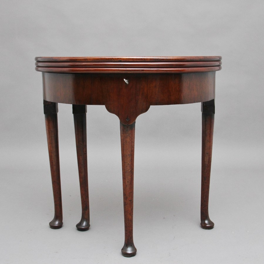 18th Century mahogany triple top games table