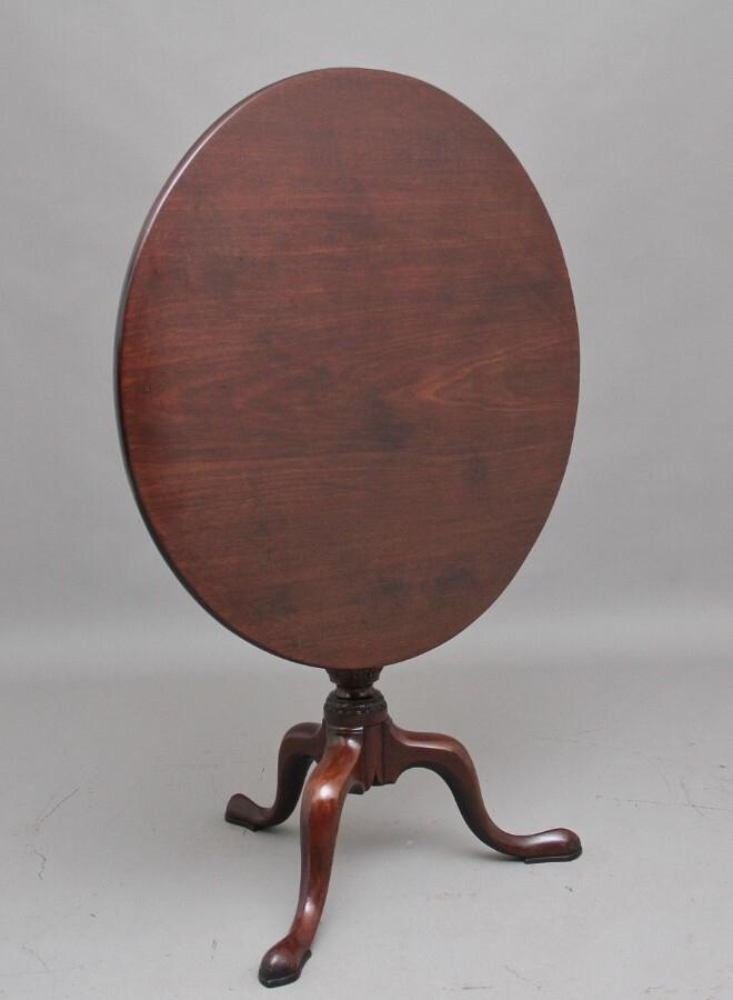 Antique 18th Century mahogany tripod table