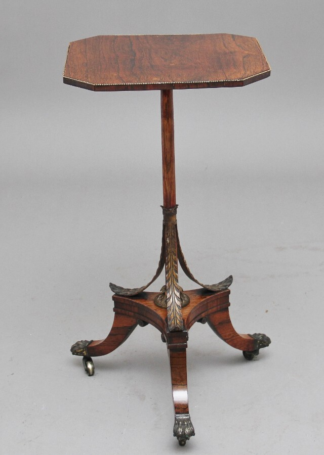 Antique Early 19th Century rosewood occasional table