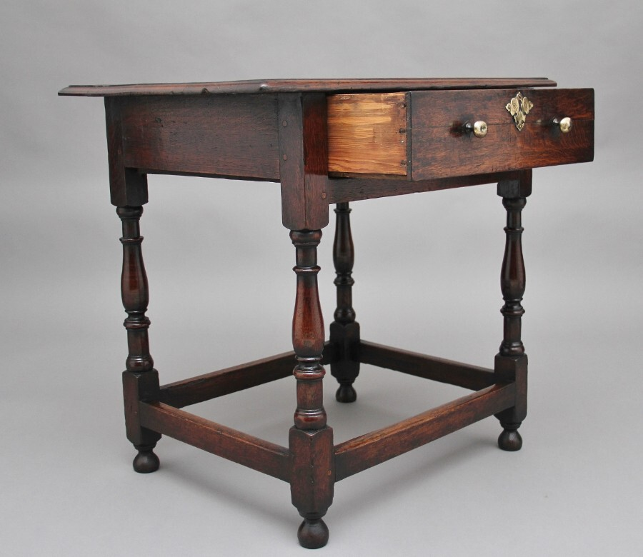 Antique Early 18th Century oak side table