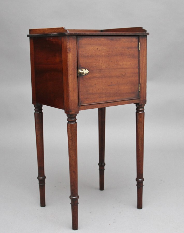 Early 19th Century mahogany bedside cabinet