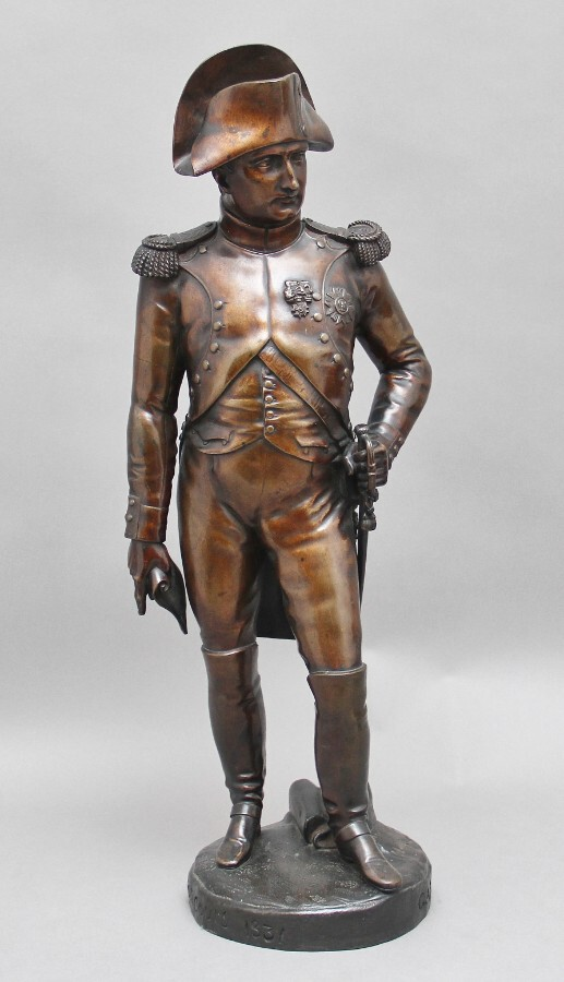 Early 19th Century bronze sculpture of Napoleon Bonaparte by Carle Elshoecht (1797-1856)