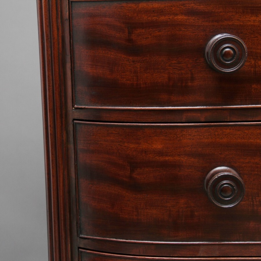 Antique Early 19th Century flame mahogany chest of drawers