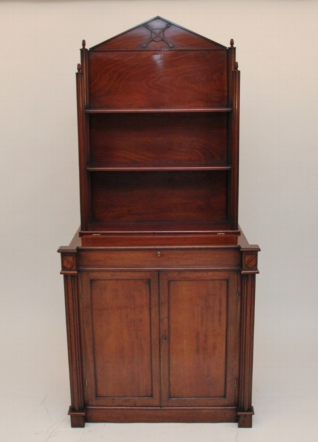 Mahogany writing cabinet