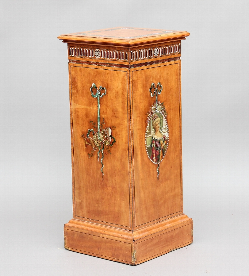 Satinwood pedestal