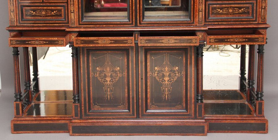 Antique Aesthetic movement display cabinet by Lamb of manchester