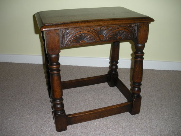 Antique 19th century Oak Joint Stool