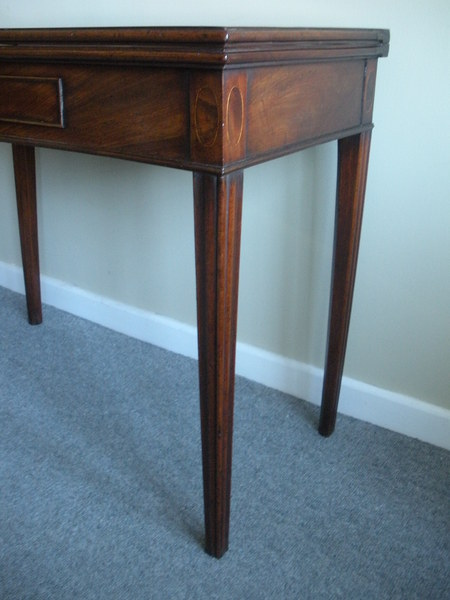 Antique Late 18th early 19th Century Fold Top Tea Table