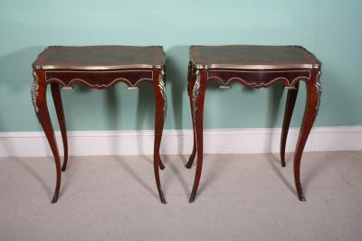 Antique Beautiful Pair Louis XV Walnut Side Tables