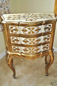 Antique Antique Italian Ornate Gilded Painted Chest of Drawers