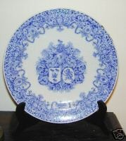 Antique 18TH CENTURY DELFT ARMORIAL PLATE