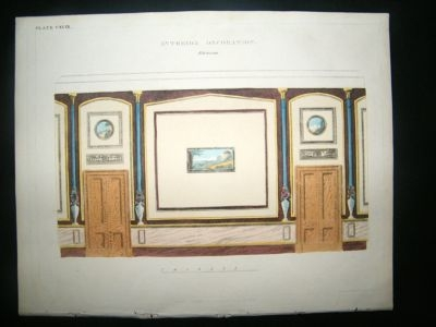 Decorative 1820's Etruscan Interior Design, Regency