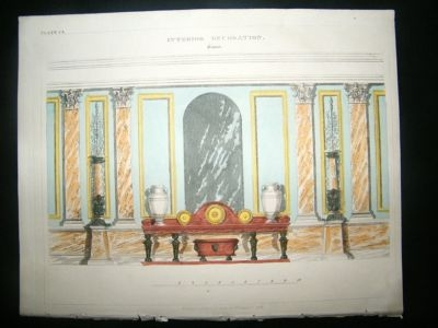 Decorative 1820's Roman Interior Design, Regency