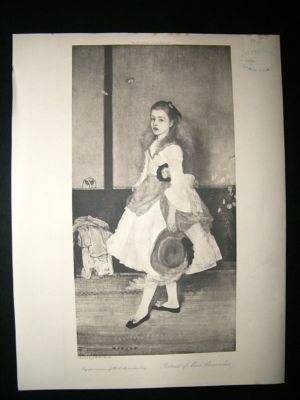 After James McNeill Whistler: 1905 Miss Alexander Portrait. Children Print