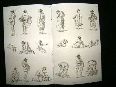 Ackermann Rustic Figures, Trades, etc: C1814 Lot of 4 Prints