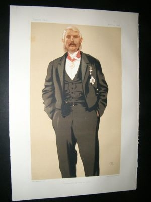 Vanity Fair Print: 1876 Frederick Paul Haines, Military