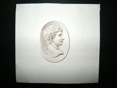 Antique Bartolozzi after Cipriani C1785 Stipple Engraved Gem