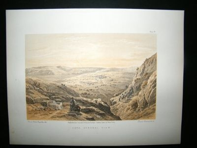 David Roberts Holy Land: C1880 Cana, Antique Print