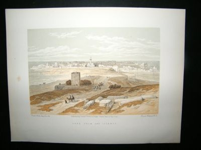 David Roberts Holy Land: C1880 Tyre, Antique Print