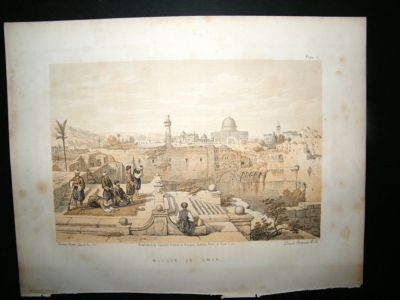 David Roberts Holy Land: C1880 Mosque of Omar Print