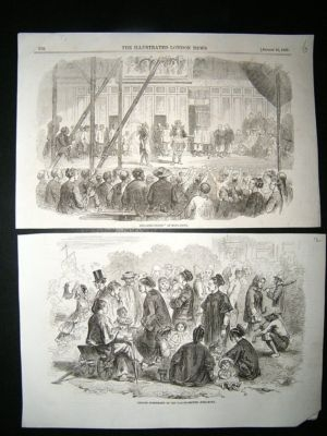 China Hong Kong: C1857 Lot of 8 Prints. ILN Opium War