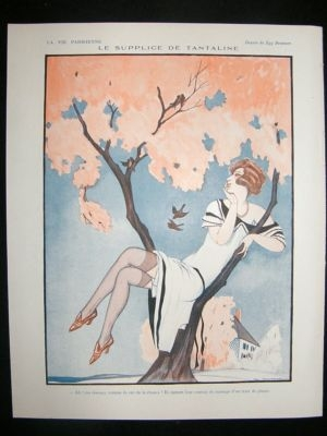 La Vie Parisienne Art Deco Print 1924 Le Supplice de Tantaline by Zyg Brunner