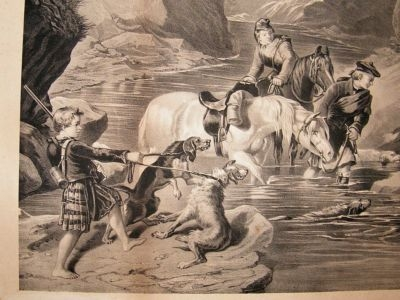 "After Edwin Landseer: C1850's LG Folio Lithograph. ""The Bayed Stag"""