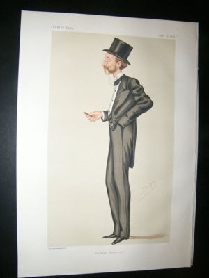 Antique Vanity Fair Print: 1876 Viscount Newry and Mourie, Thea