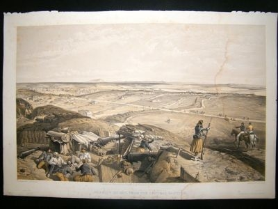 Antique Simpson Crimea 1856 Bastion du Mat. Folio Print