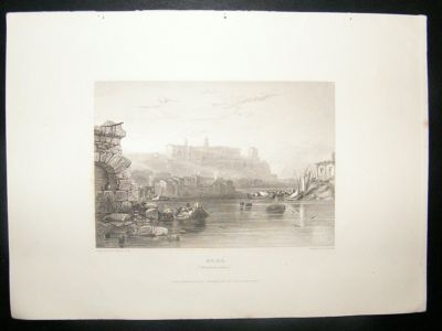 Antique Italy: 1834 Steel Engraving, Rome Print