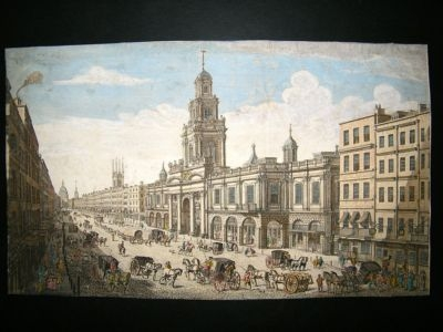 Antique UK: C1760 Vue d'Optique, Royal Exchange, London. Thomas Bowles.