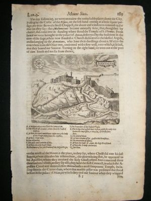 Antique Jerusalem: 1621, The Field of Blood, Antique print, Sandys