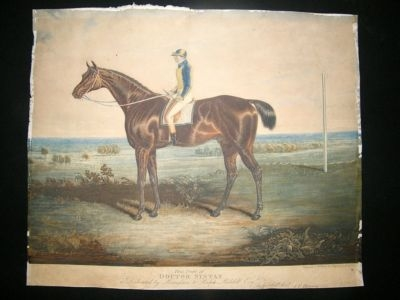 Antique William Ward after John Herring: C1825 Horse Racing Mez